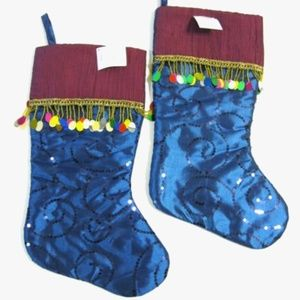 Christmas Stockings Blue & Purple Bundle of 2